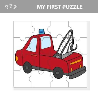 Camion divertente del fumetto. gioco educativo per bambini - il mio primo puzzle game