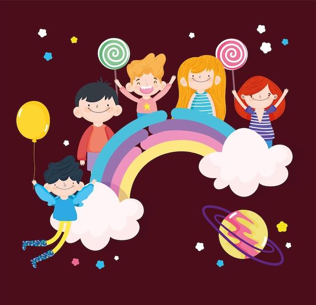 Arcobaleno divertente per bambini