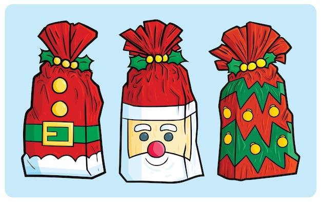 Divertente regalo di plastica di natale in stile cartone animato