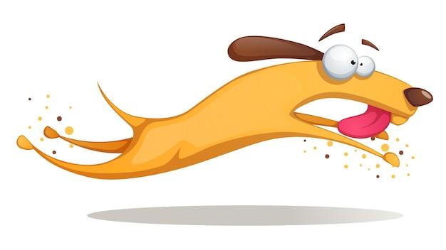 Divertente, carino, pazzo cane giallo.