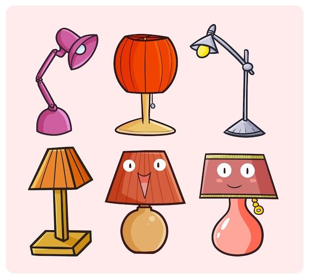 Divertente collezione di lampade da scrivania in semplice stile doodle