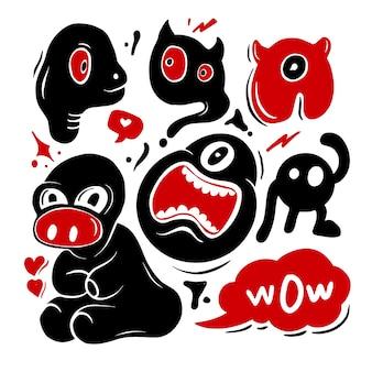 Divertente doodle carino illustraion