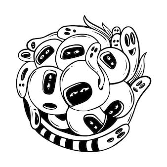 Illustrazione divertente di doodle