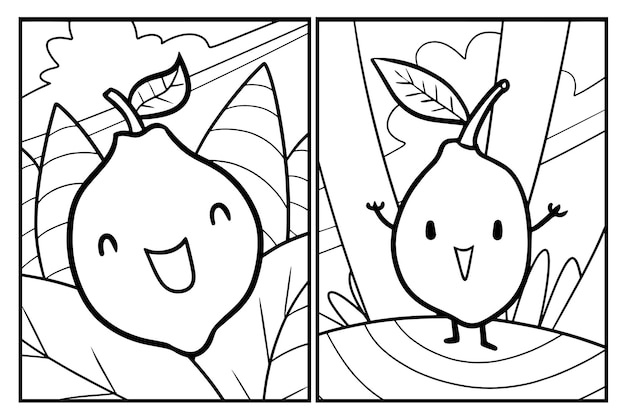 Disegni da colorare divertenti cartoni animati di limone