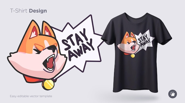 Divertente shiba inu dog stampa su t-shirt felpe custodie per telefoni cellulari