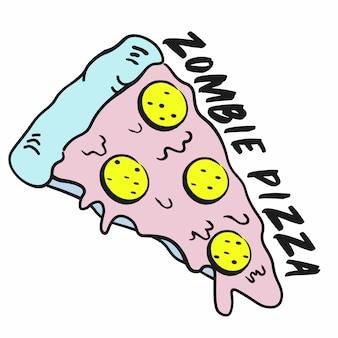 Divertente fetta di pizza zombi
