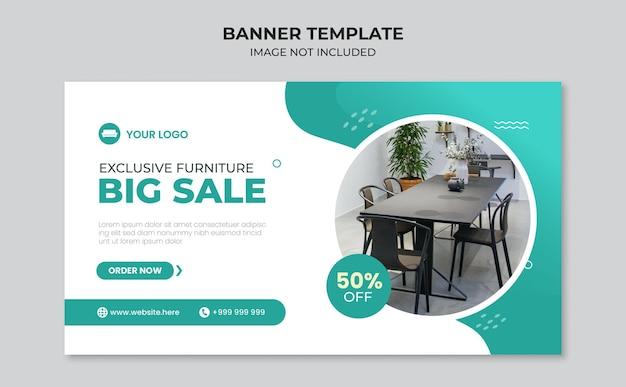Modello di progettazione di banner di grande vendita di mobili