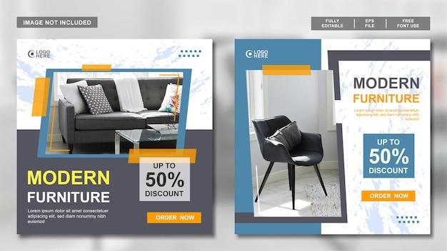 Modello di raccolta di post sui social media per la progettazione di mobili