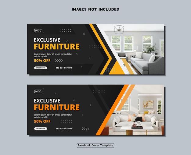 Copertina facebook per mobili e modello di banner per social media