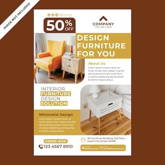Promozione di poster di mobili in stile design piatto