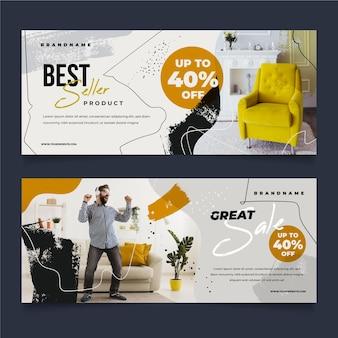 Modello di raccolta banner vendita mobili con foto