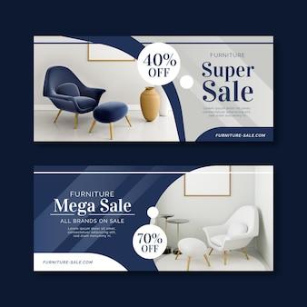 Banner di vendita di mobili con sconto