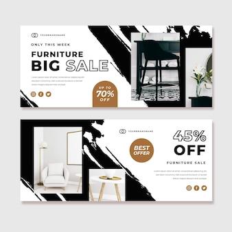 Banner di vendita di mobili con foto