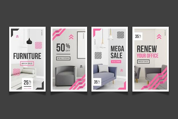 Storie di ig di vendita di mobili con foto