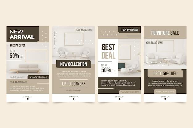 Storie di instagram di vendita di mobili