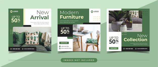 Banner di social media per la vendita di mobili per post di instagram e marketing digitale
