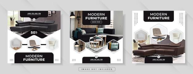 Vendita di mobili per banner sui social media o post su instagram