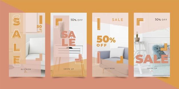 Storie di social media di vendita di mobili