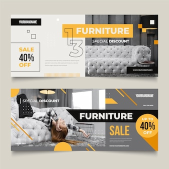 Pack di banner di vendita di mobili
