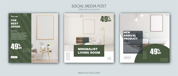 Modello di post instagram social media mobili