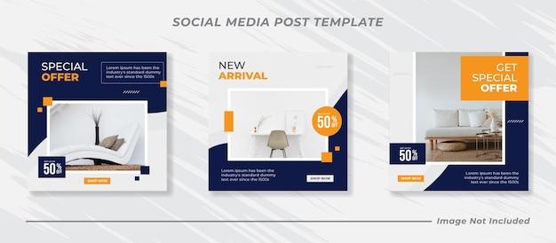 Social media mobili e modello di post instagram