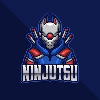 Furutistic ninja esport logo gaming