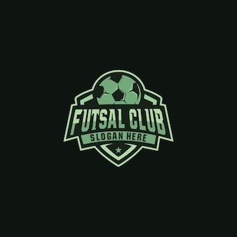 Futsal club logo design distintivo