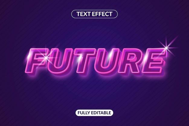 Effetto aspetto futuro effetto stile carattere testo