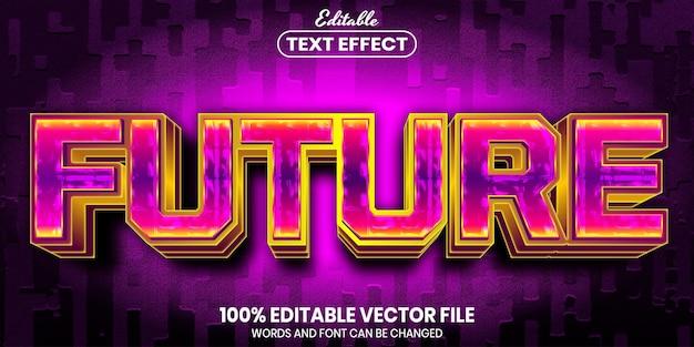Testo futuro, effetto testo modificabile in stile carattere