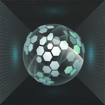 Futura tecnologia dell'interfaccia utente o futuristico concetto di touchscreen olografico