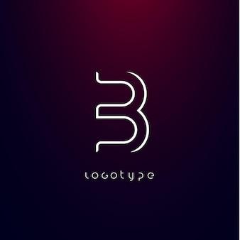 Lettera b stile futuristico tipo minimalista per logo futuristico moderno elegante monogramma cyber tech