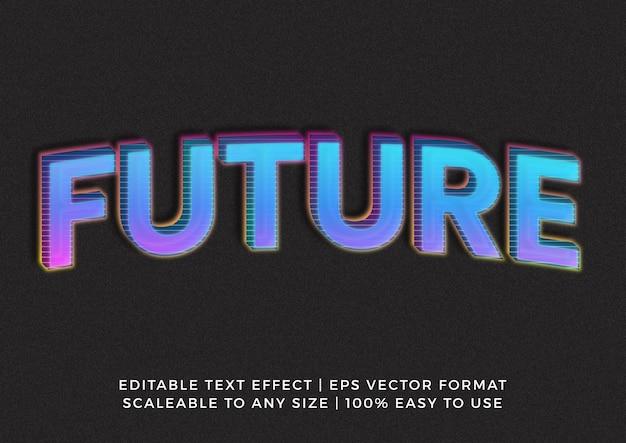 Effetto testo del titolo del modello di linea grafica futuristica 3d