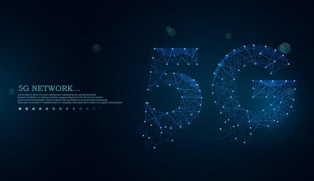 Futuristico concetto di tecnologie innovative per la connessione internet wireless 5g