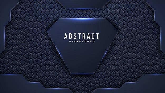 Futuristico sfondo astratto con combinazione di punti luce incandescente linee