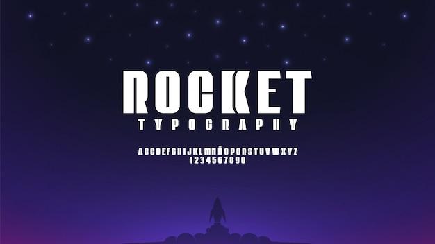 Alfabeto futuristico con il concetto di spazio