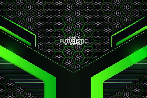 Sfondo futuristico scuro e verde