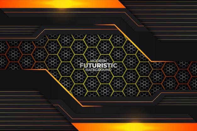 Sfondo futuristico scuro e arancione