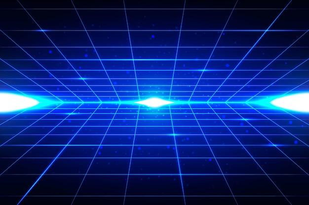 Sfondo futuristico con forme blu