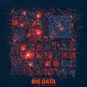 Sfondo futuristico di visualizzazione di big data