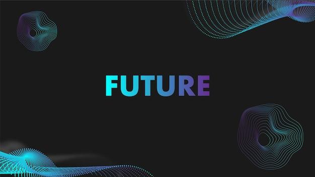 Modello di sfondo futuristico e colorato