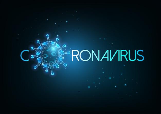 Iscrizione futuristica di coronavirus