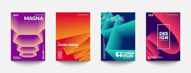 Design futuristico di modelli di copertina. Vettore Premium