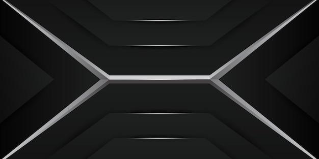 Sfondo futuristico di gioco metallico scuro