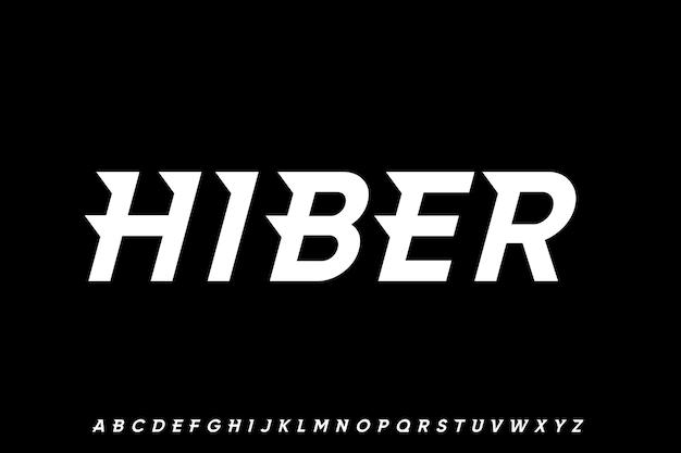 Carattere futuristico alfabeto geometrico