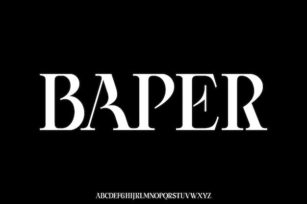 Vettore di carattere alfabeto elegante geometrico futuristico