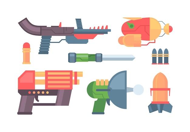 Pistole futuristiche e design della collezione di armi