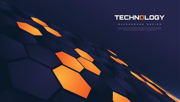 Progettazione futuristica del fondo di esagono. sfondo esagonale astratto, adatto per copertina, presentazione, banner o pagina di destinazione