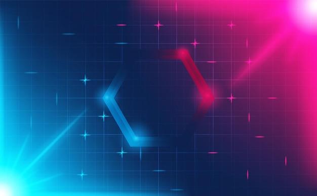 Esagono futuristico hud abstracts.future tema concetto background.vector e illustrazione