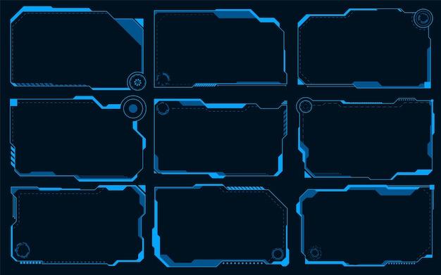 Hud futuristico abstracts.future blu monocromatico concetto tema sfondo.