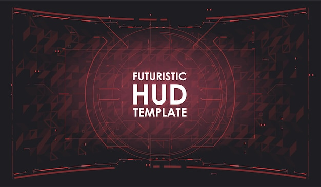 Sfondo futuristico dell'hud. navicella spaziale del cruscotto. schermate di testa per videogiochi, app, film. modello di fantascienza. tecnologia del futuro. design ad alta tecnologia.